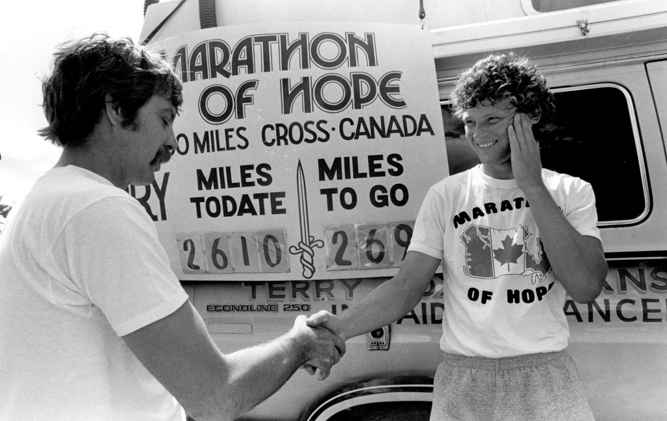 Terry Fox at Marathon of Hope